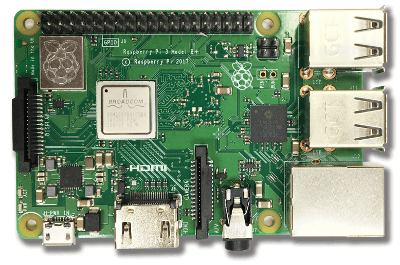 Raspberry Pi 3B+ Front view