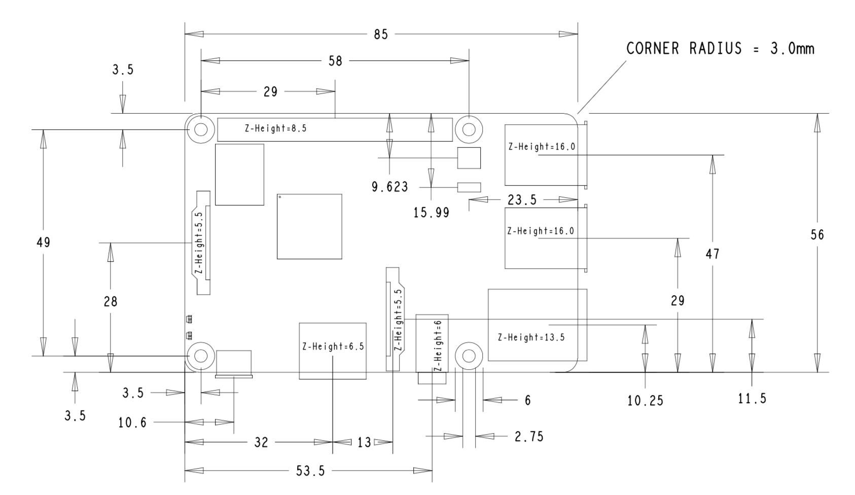 Raspberry Pi 3B+ 2D