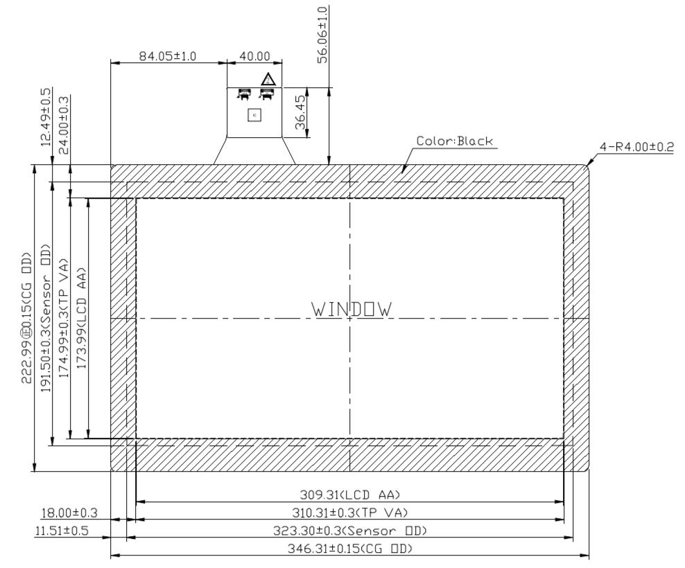 B140PFU-E02 2D Drawing