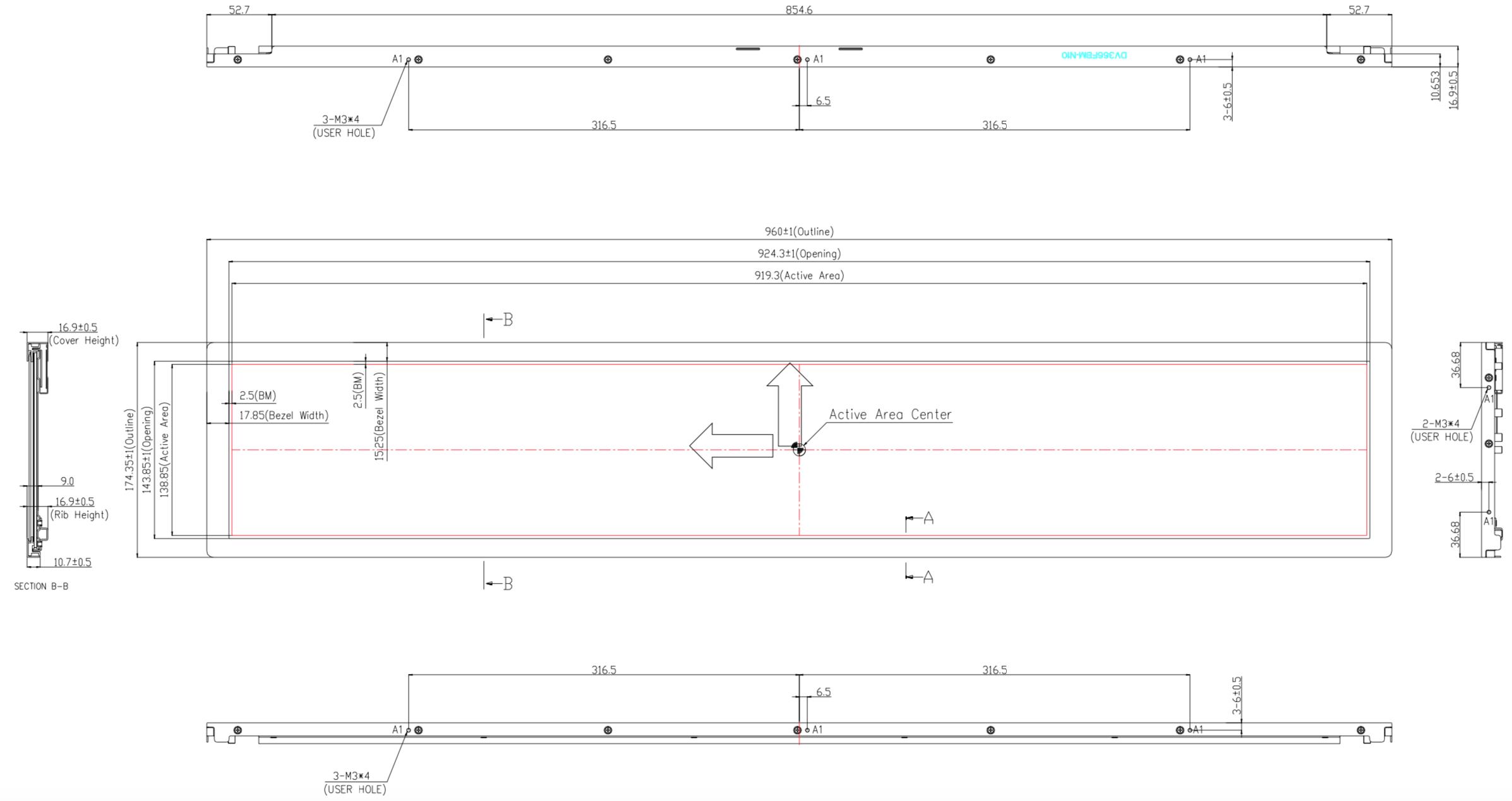 DV366FBM-N10 2D Drawing