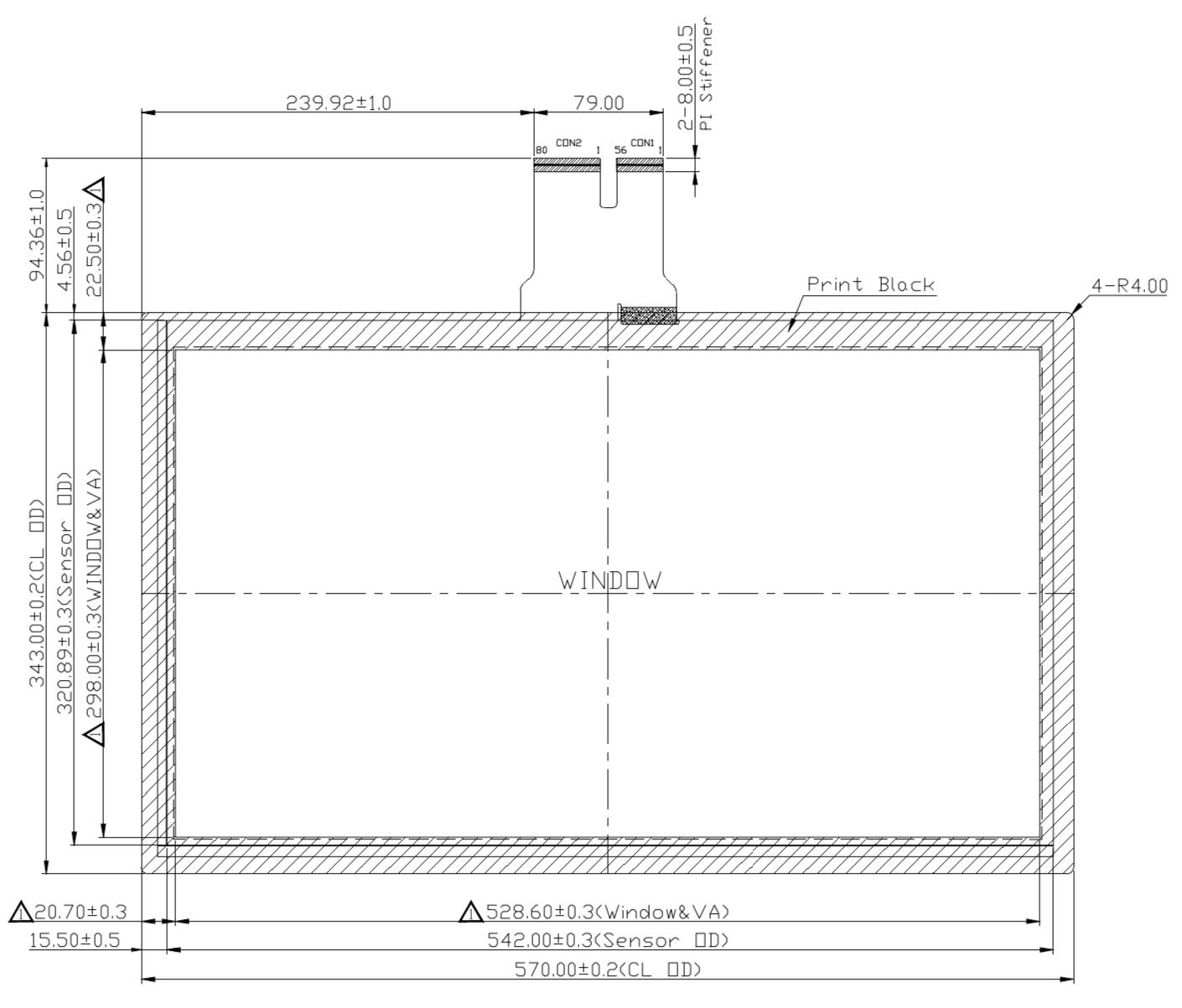 B238PBU-E01 2D Drawing