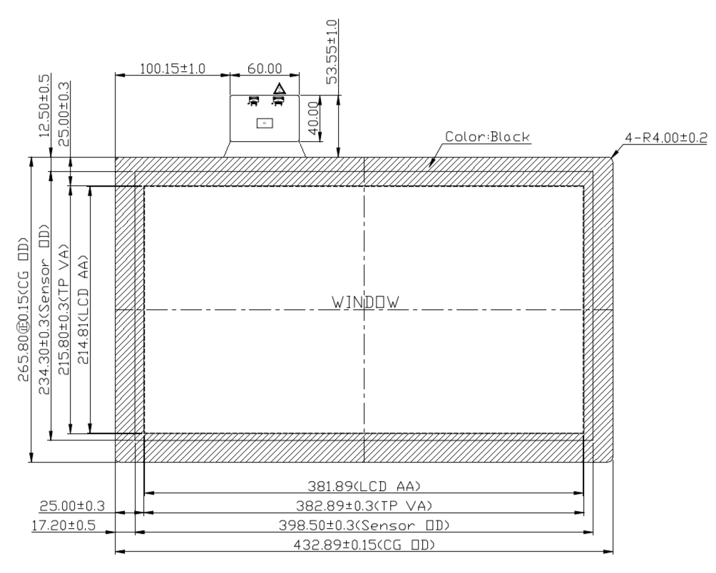 B173PFU-E02 2D Drawing