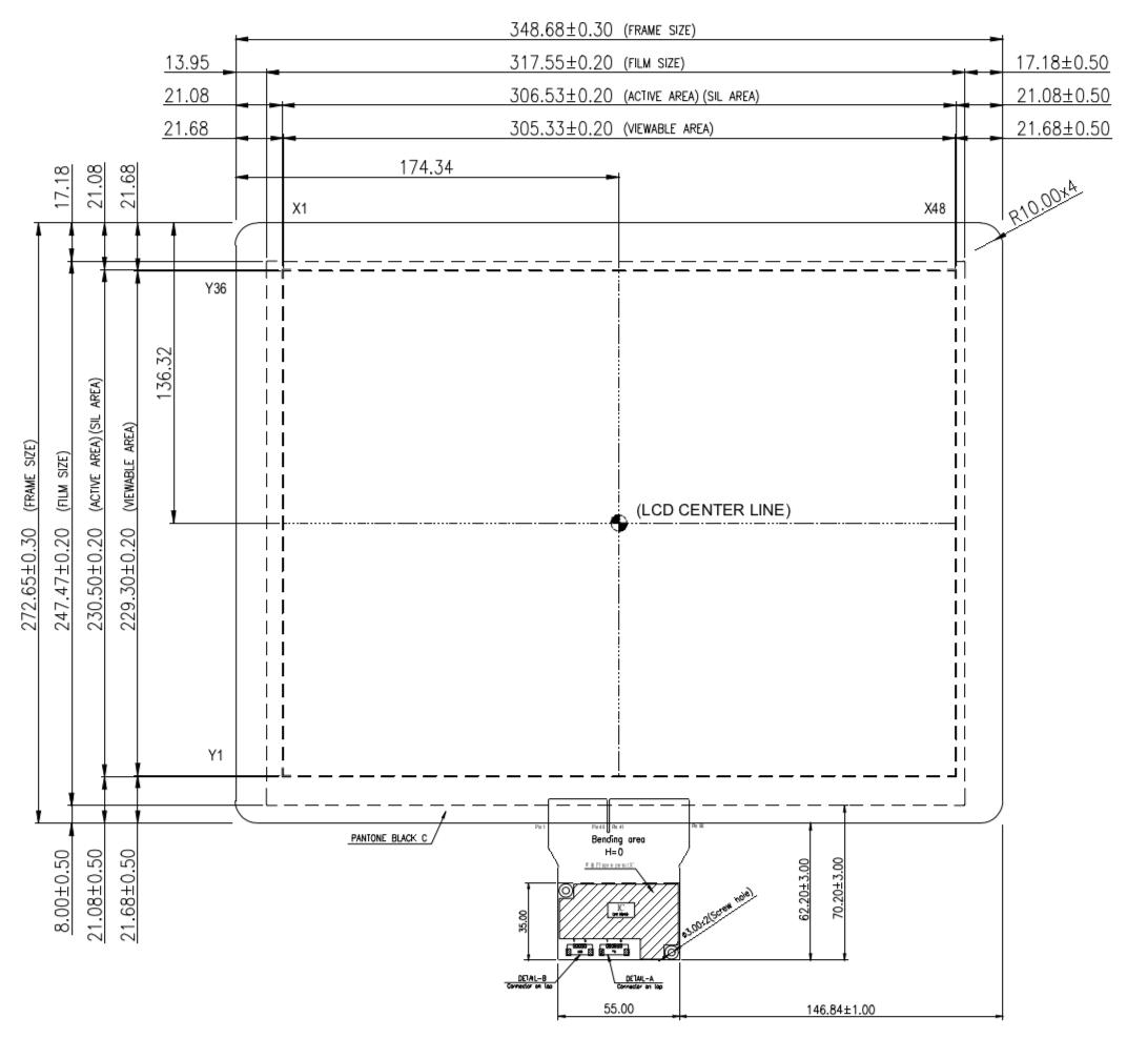 B150PFU-E01 2D Drawing