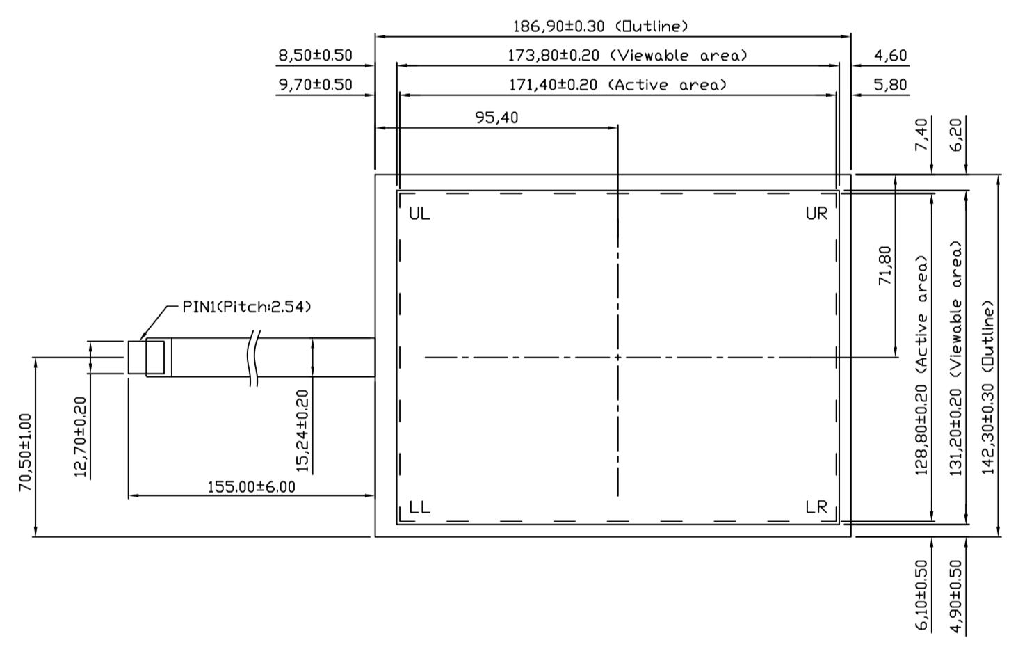 B084R5U-E01 2D Drawing