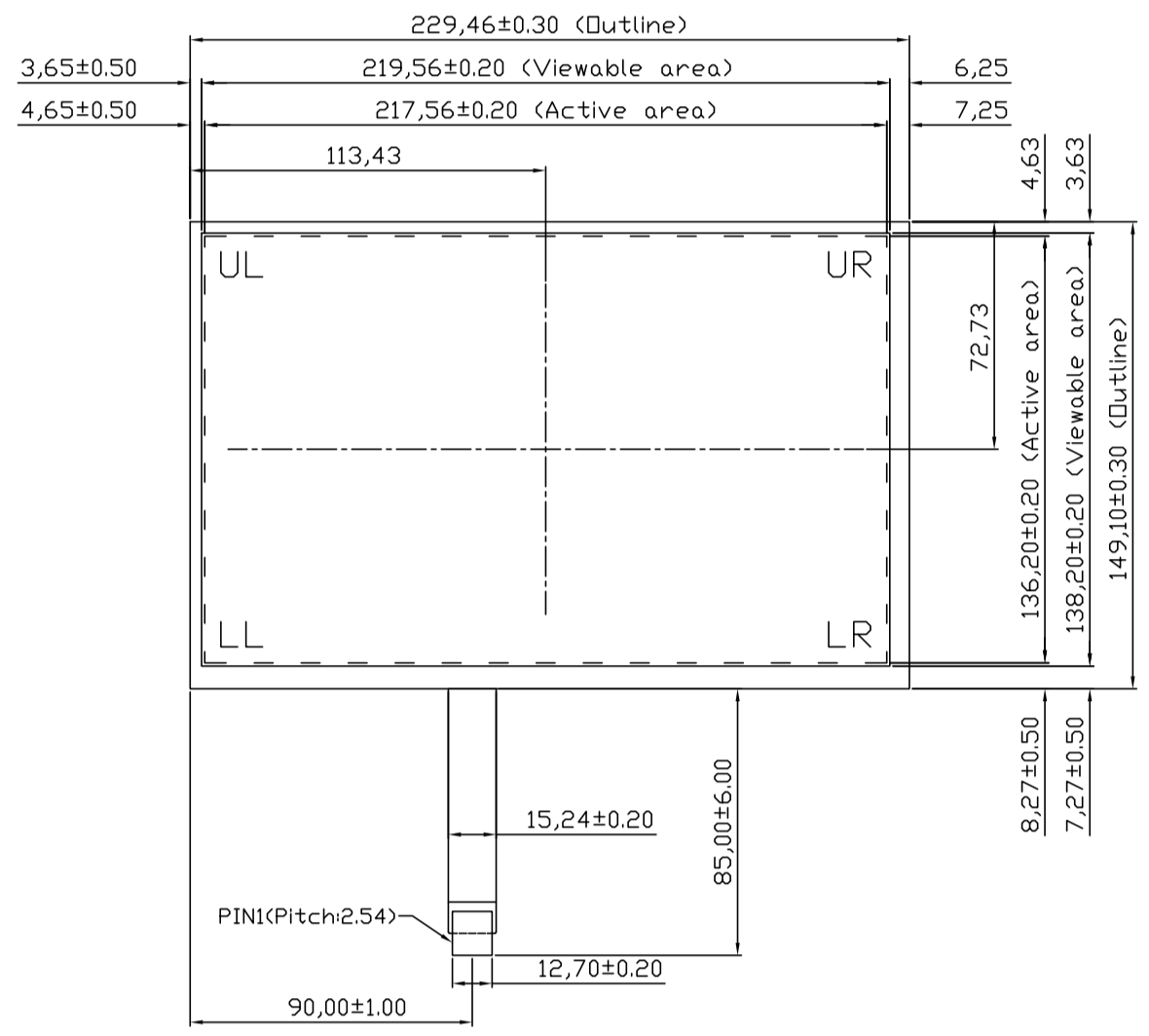 B101R5U-E01 2D Drawing