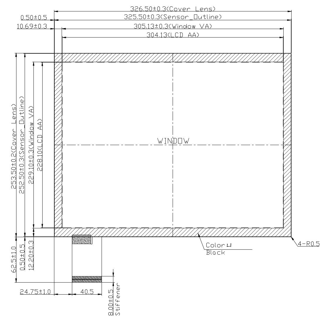 B150PBU-E02 2D Drawing