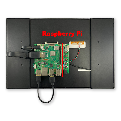 12.5 Smart Touch Display with Raspberry Pi 3B+ Rear View