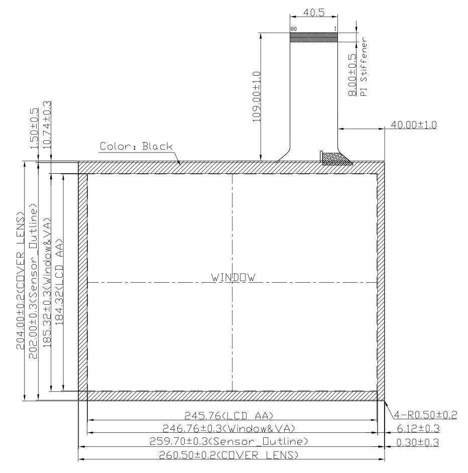 B121PBU-E03 2D Drawing