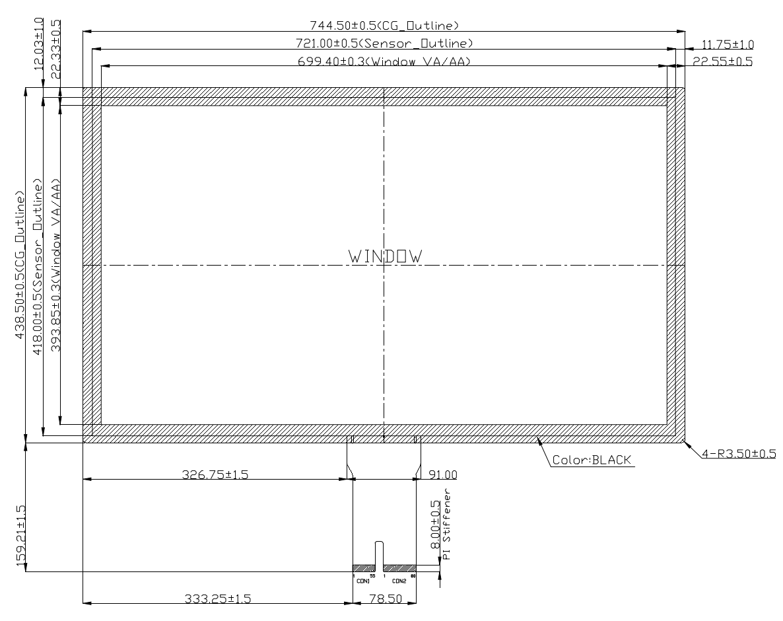 B320PBU-E01 2D Drawing