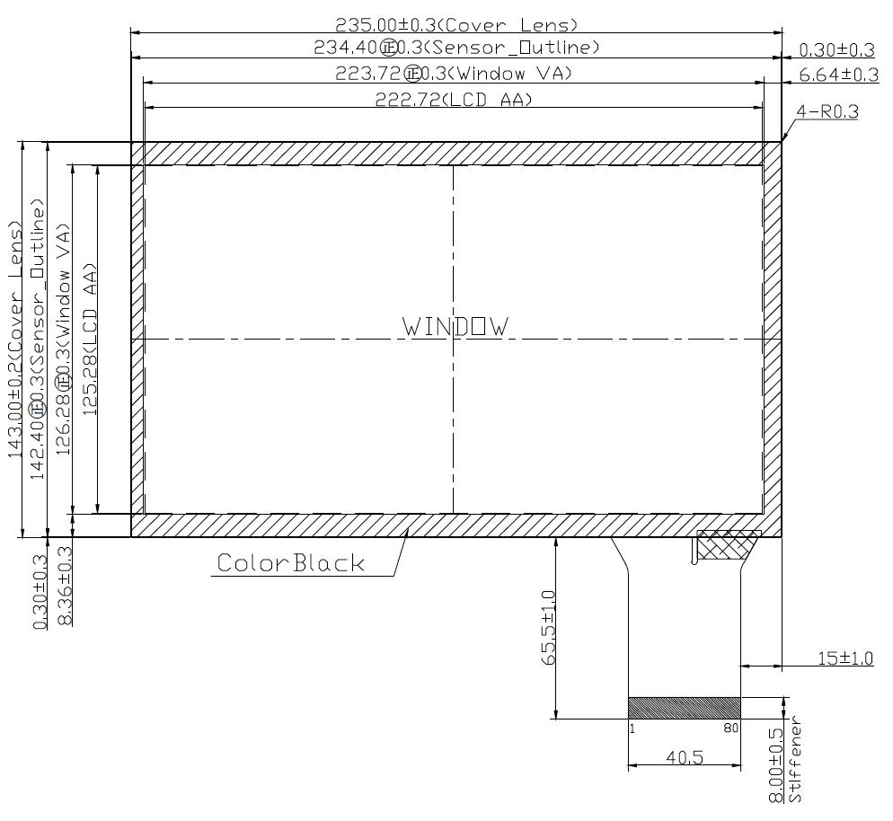 B101PBU-E01 2D Drawing