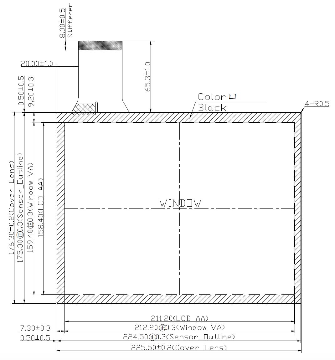B104PBU-E01 2D Drawing