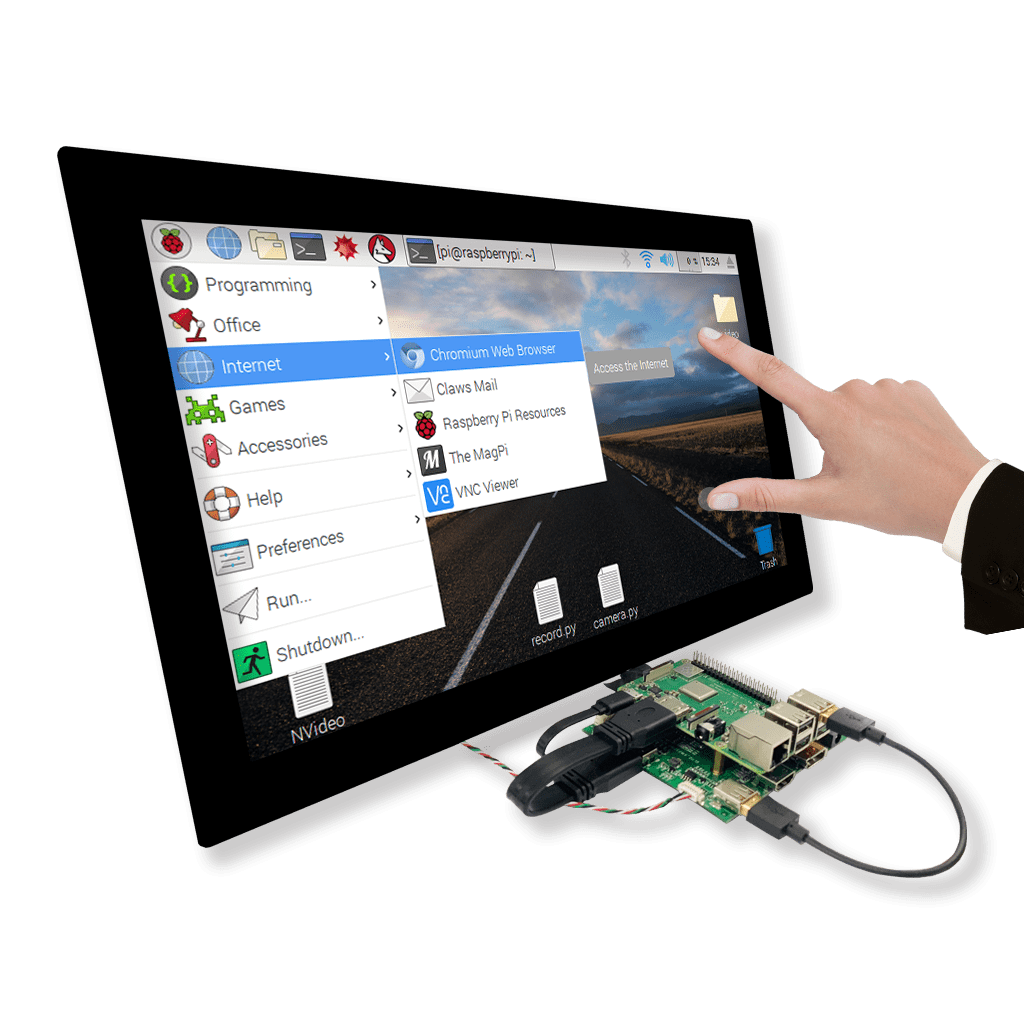 Raspberry Pi with AD Board & Touch Display