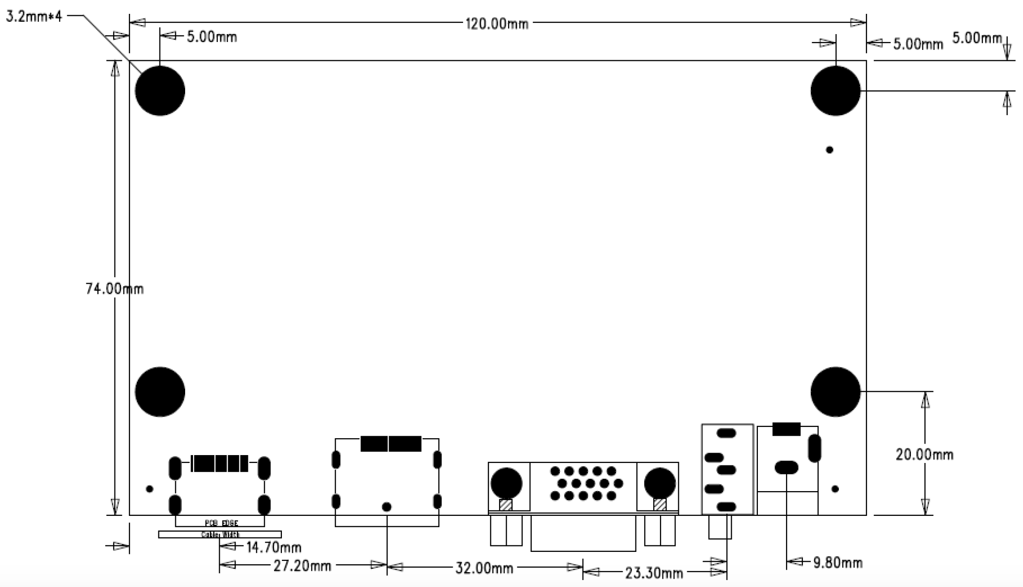AD-0037D-20 Front view 2D Drawing